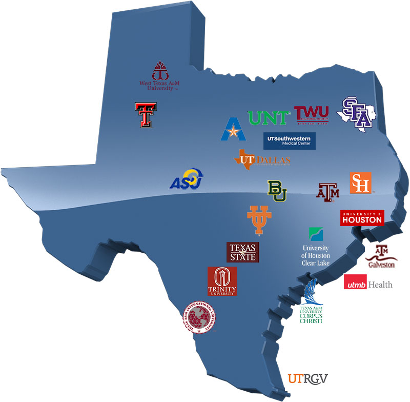 Texas University Map Members | Texas Digital Library