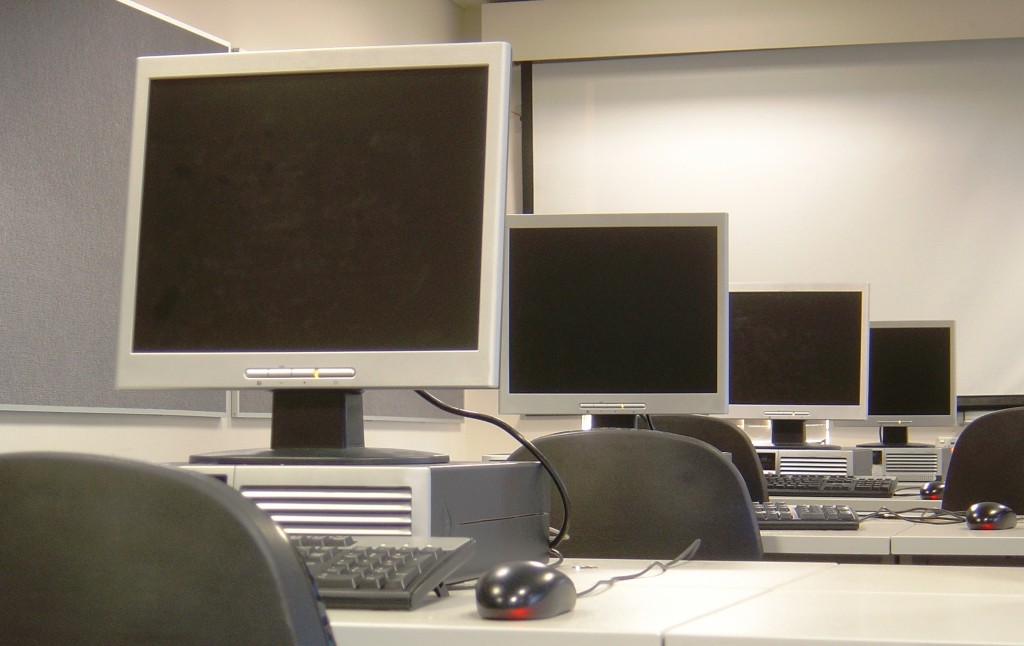 image of training room with computers