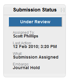 Submission Status in Vireo Management Interface
