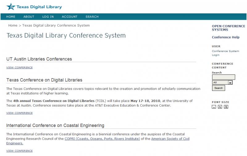 TDL Conference System index