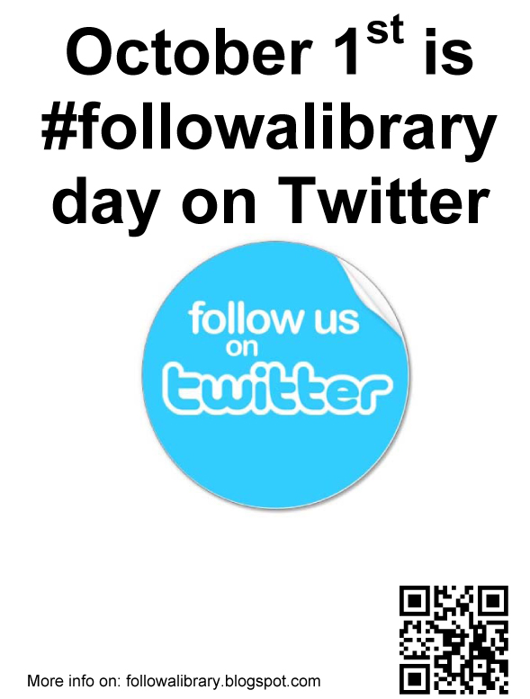 #followalibrary day poster