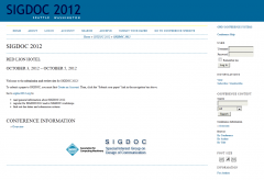 A TDL-hosted conference website using OCS software