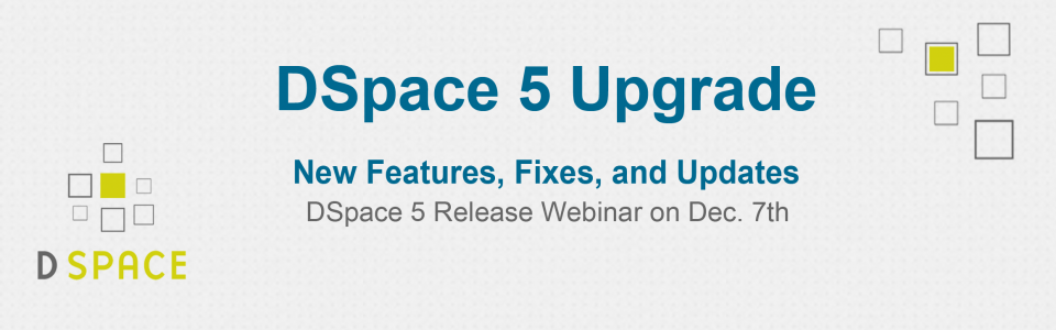 DSpace 5 upgrade announcement