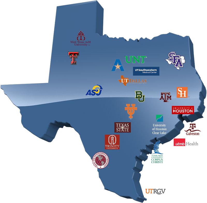 University Texas Map Business Ideas 2013