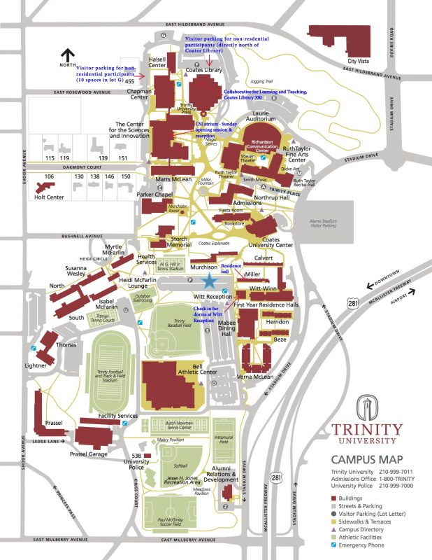 Trinity University Campus Map Information About the Digital Preservation Management Workshop