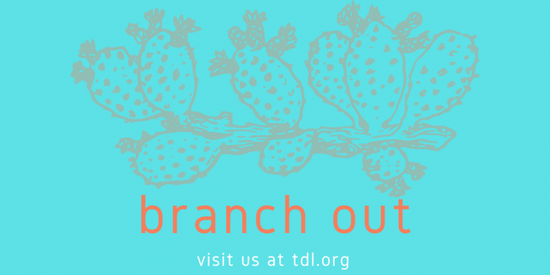 illustration of a cactus with text that says branch out